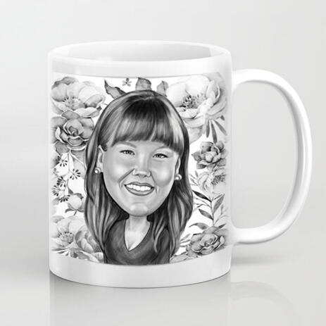 Custom Photo Mug: Digital Cartoon Drawing from Photo - example