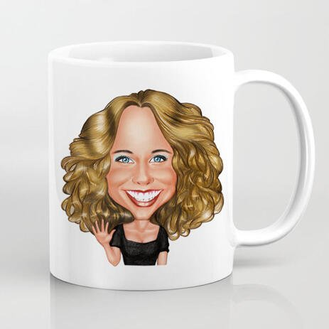Custom Mug with Caricature from Photo - example