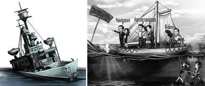 Watercraft Caricatures