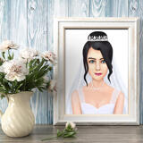 Custom Bride Drawing from Photos as Poster
