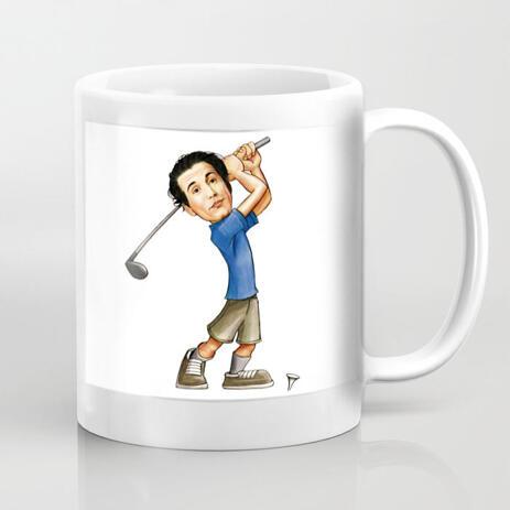 Coffee Mug with Caricature Print - example