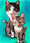 Tag caricatura dell'animale domestico per collare example 8