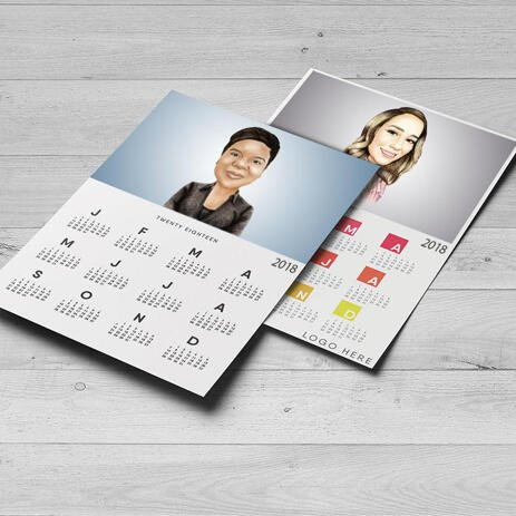 Calendar with Corporate Caricature - example