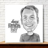 Print on Canvas: Customized Pencils Cartoon on Father's Day