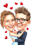 Couple Caricatures example 3