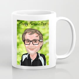 Customized Cartoon Print on Mug in Colored Digital Style