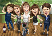 Caricatures for Party example 6