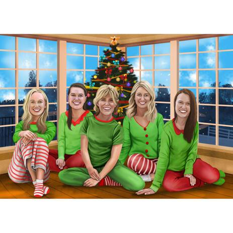 Christmas Group Portrait as Christmas Elfs - example