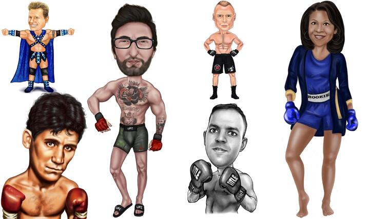 Boxing Caricature large example