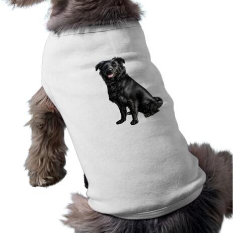 Dog Caricature Printed on Pet Shirt - example