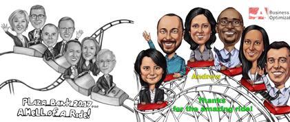 Achterbahn-Karikatur