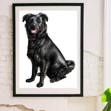 Caricature de chien imprimée sur une affiche - example