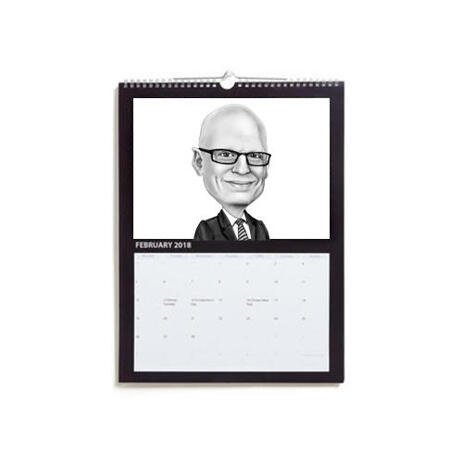 Business Caricature on Calendar - example