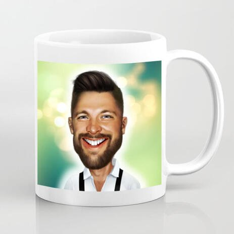 Caricature customized coffee mugs - example