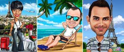 Vacation Caricature