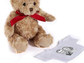 Newlyweds Caricature Drawing as Teddy Bear