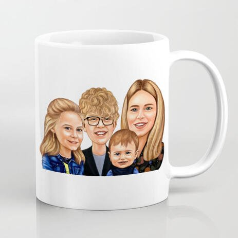 Friends Caricature on Coffee Mug - example