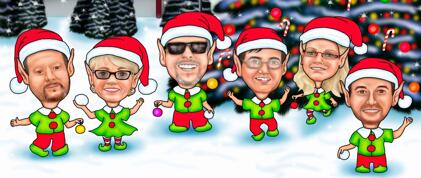 Christmas Group Caricature