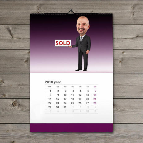 Caricature for Employee on Calendar - example