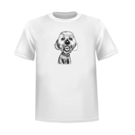 Custom Pet Caricature Tshirt from Photos - example