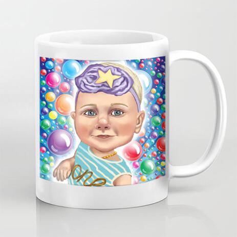 Personalized Coffee Mug with Kid Caricature - example