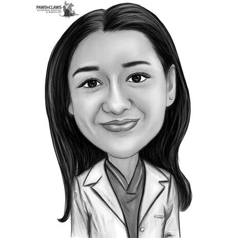 Veterinarian Portrait in Black and White Style - example