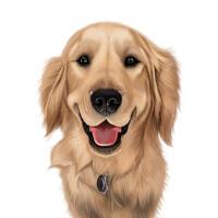 Мультяшный портрет собаки в цветном стиле по фото