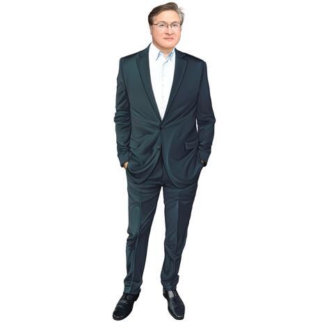Portrait personnalisé en couleur du corps entier à partir de la photo - example
