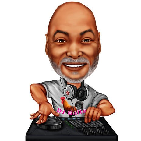 DJ Caricature from Photos for Music Lovers - example