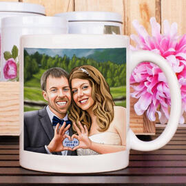 Wedding Caricature Mugs