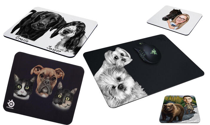 Pet Drawing Mouse Mat large example