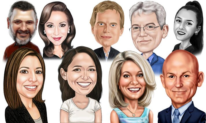Custom Caricature large example