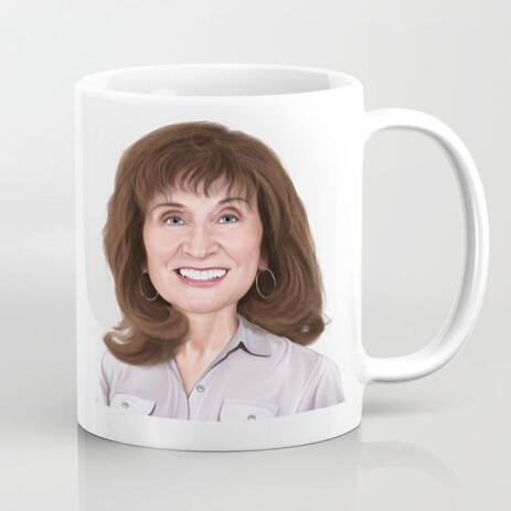 Custom Print on Mug: Personalized Portrait Drawing from Photo - example