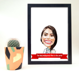 Printed Photocopy: Custom Caricature Drawing from Photo for Mother's Day