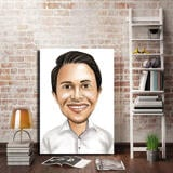 Business Caricature on Canvas