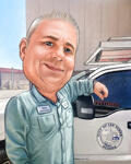 Caricature sur un étui de téléphone example 7