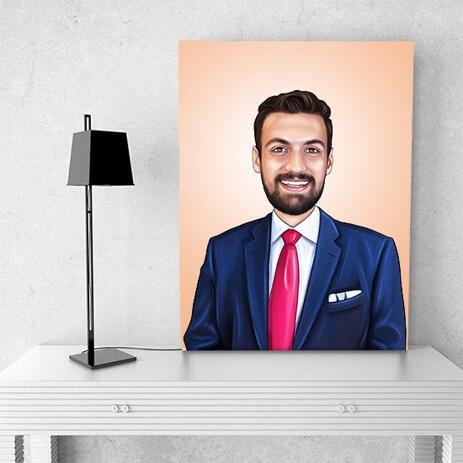 Business Portrait on Canvas - example
