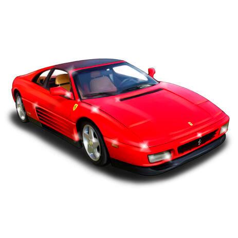 أي رسم صورة سيارة من الصور بأسلوب ملون - example