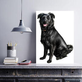 Dog Caricature Printed on Canvas