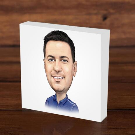 Photo block with Corporate Caricature - example