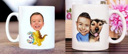 Kids Mug Caricature