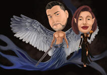 Caricature di Halloween example 3
