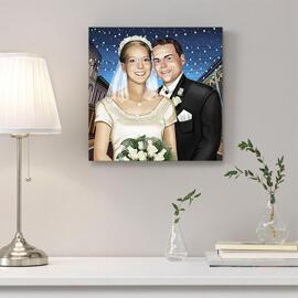 Wedding Portrait Printed on Canvas