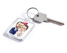 Wedding Caricature on Keyring