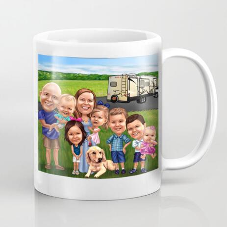 Group Coffee Mug Drawing - example