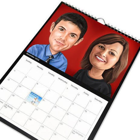 Corporate Caricature on Calendar - example