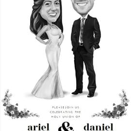 Wedding Portrait Printed on Invitations