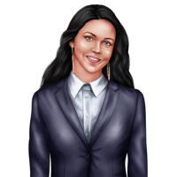 Portrait de femme d'affaires dans le style de couleur à partir de photos