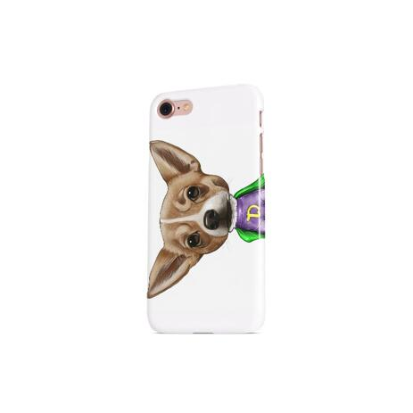 Dog Caricature from Photos Printed as Photo Case - example