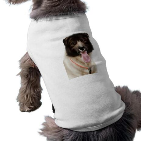 Dog Portrait from Photos on Pet Shirt - example